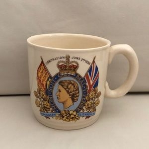Vintage Queen of England Mug